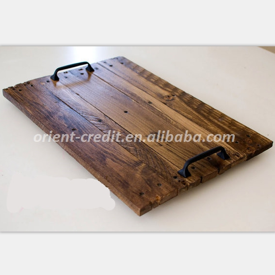 Antique Distressed Farmhouse Style decorative Rustic Wood Serving Tray, Rustic Home Decor or Wedding Gift