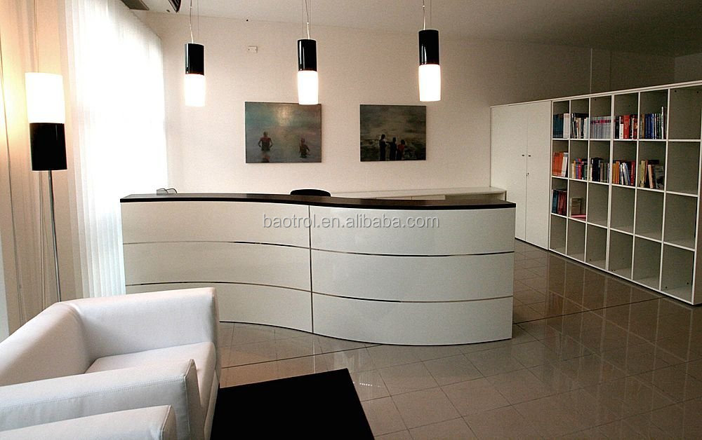 Curved White Reception Desk Modern Beauty Salon Furniture - Buy Modern  Beauty Salon Furniture,Salon Front Desk Furniture,Restaurant Reception Desk  ...