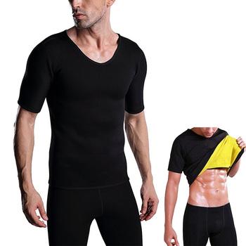 8f47280929 Hot Sale Men Neoprene Sweat Waist Trainer Corset Slimming Sauna Shirt No  Zipper Body Shaper