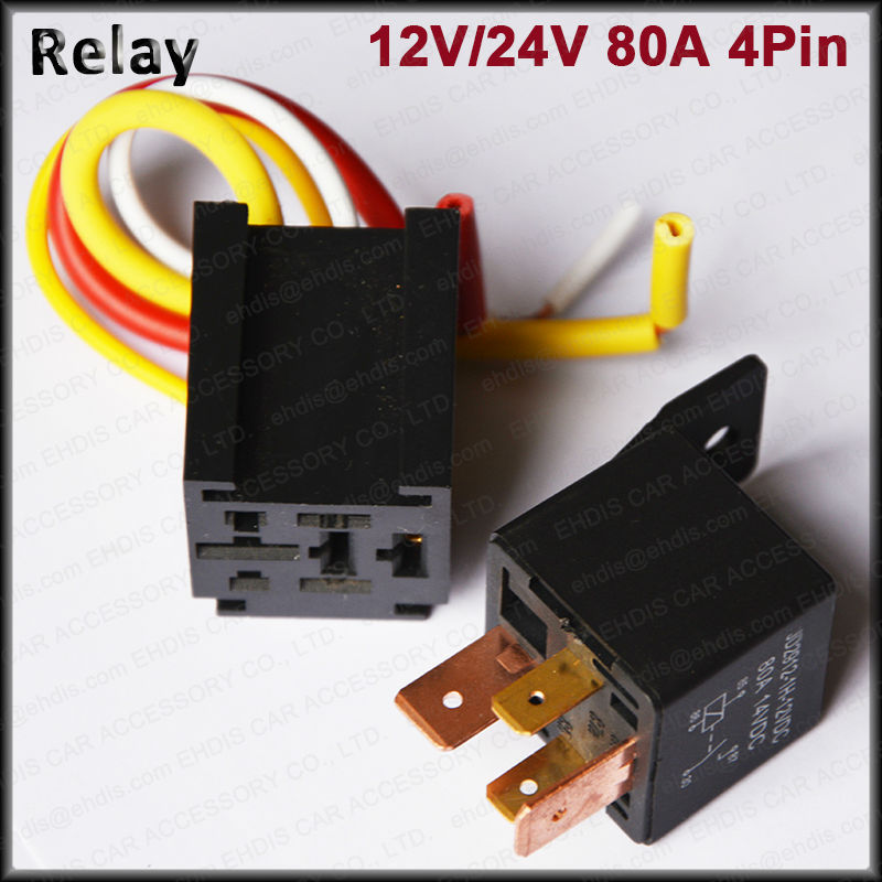Wholesale Auto Relay Two Way Relay Switch 12v 80a Spst Car Relay