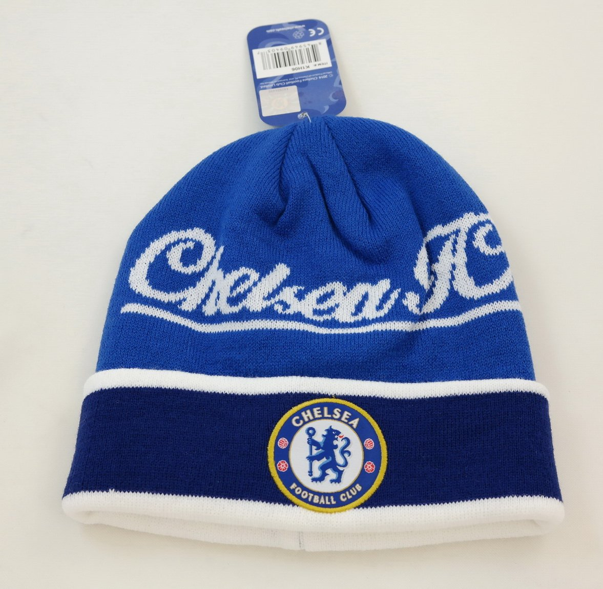 fb1d536576b Get Quotations · CHELSEA FC OFFICIAL SOCCER BEANIE KNIT FOOTBALL CLUB HAT  CAP