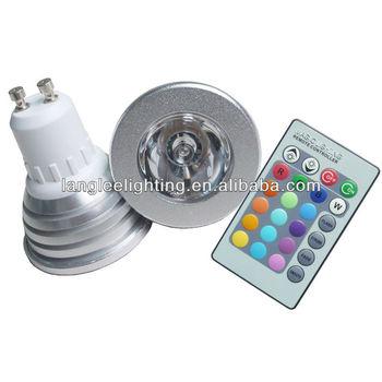 3w magische verlichting rgb led gloeilamp en remo e27 16 kleuren led rgb magische lamp met