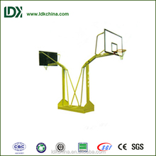 Safety public used gym facility double basketball stand SMC backboard