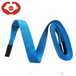 Low Price Stock Goods 8 inches 8 ton Polyester Webbing Sling Lifting Belt
