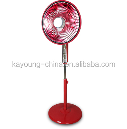 Popular high quality electric stand fan type heater for India approval heater fan manufacturer