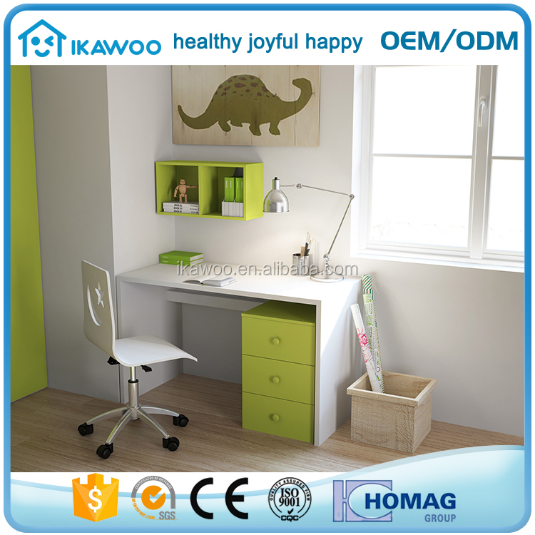 IKAWOO(ikazz)high quality mdf children kid study table with chair