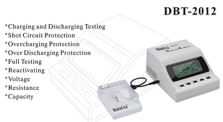 BAKU BK-DBT-2012 universal Mobile Phone UPS Digital Battery Discharge Tester with printer For Voltage And Internal Resistance