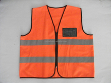 Wholesale High Quality Fluorescent Safety Reflective Jacket EN471/CE 100% Polyester Knitted Road Safety Working Vest With Pocket