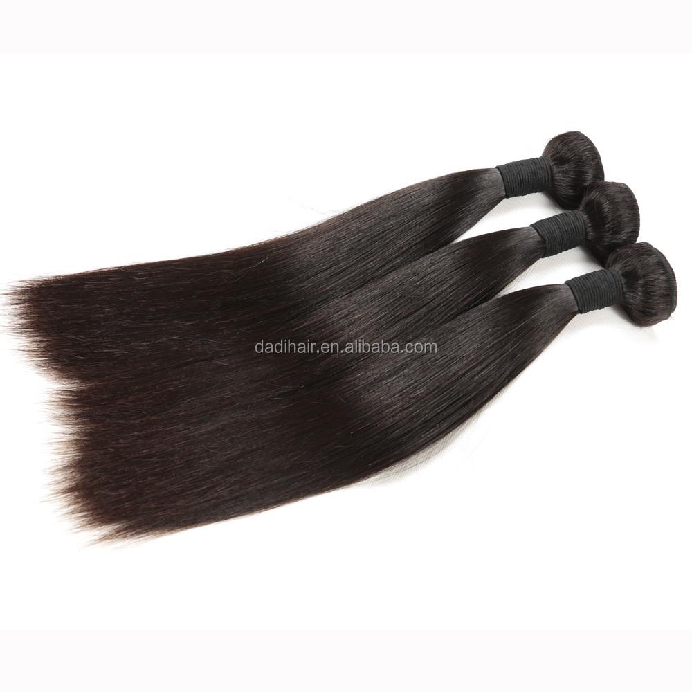 indian natural Virgin hair silk Straight Hair bulk from xuchang,cuticle aligned Remy Human Hair weaving for black woman