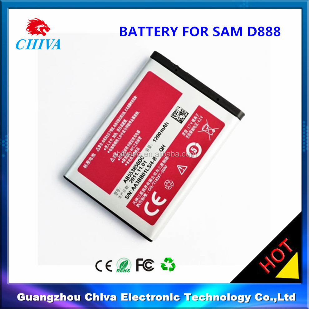 AB553850DC phone battery for Samsung ,mobile battery for Samsung D880 D888 D988 W279 W619 W629 B5702C B5712C W599,D888