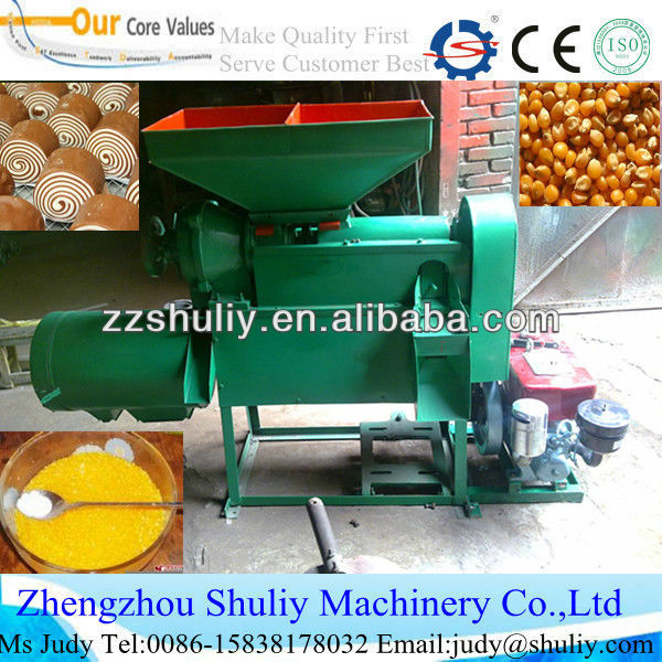 Corn grits grinder and flour miller machine Beans skin peeling machine