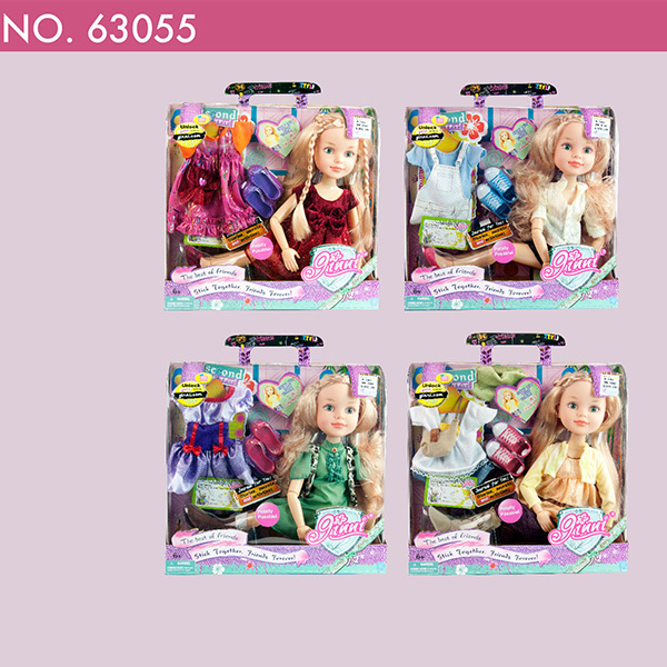 63055 Ginni 18 inch girl doll with diary baby toys mixed four styles