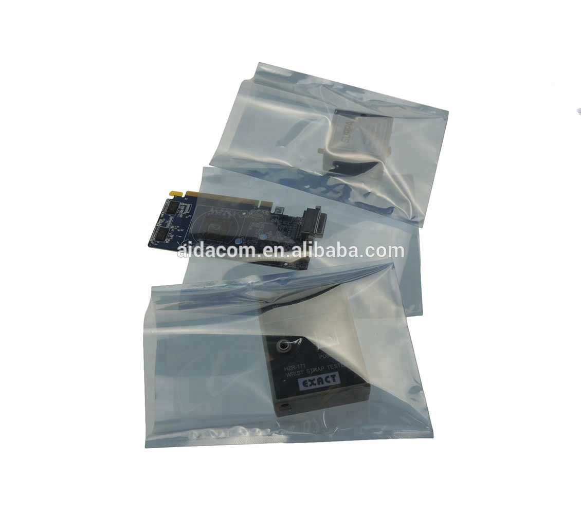 With Zipper and ESD logo 4layers antistatic ESD bag