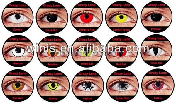 Crazy Halloween Contacts spooky season is spooking in and now is the time to choose those crazy halloween contacts so how do you choose which crazy halloween contacts to get Halloween Crazy Cosmetic Color Contact Lenses Vampire Halloween Contact Lenses Buy Crazy Eyes Contact Lensesfull Eye Contactscontact Lenses Big Eyes
