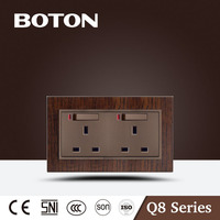 Double 13A switched socket with neon nice design UK socket