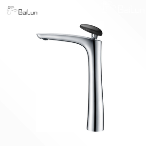 Single Hole Chrome Finish Vessel Faucet Griferia Durable Bathroom Basin Water Tap For Wholesale