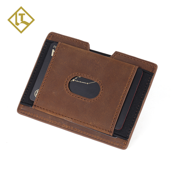 83b239b72804 Handmade Minimalist Slim Vegetable Tanned Custom Family Travel Rfid  Business Credit Card Wallet Leather Card Holder Case - Buy Leather  Wallet,Leather ...