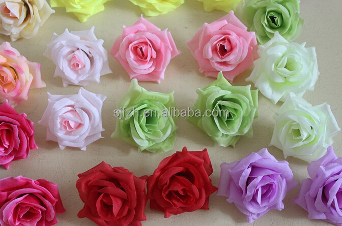 High quality artificial flower head for wedding decoration