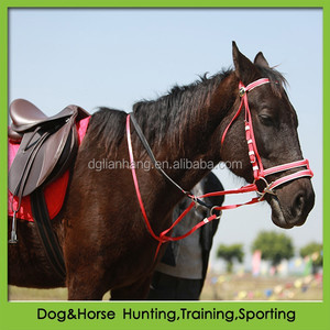 cold resistant double nosebands horse racing bridle rein similar to rubber horse bridle