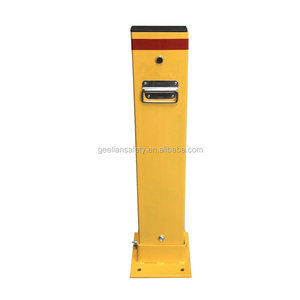 Australia and USA Type Customized Steel Parking Lot Barrier Post / Parking Bollard With Key Lock