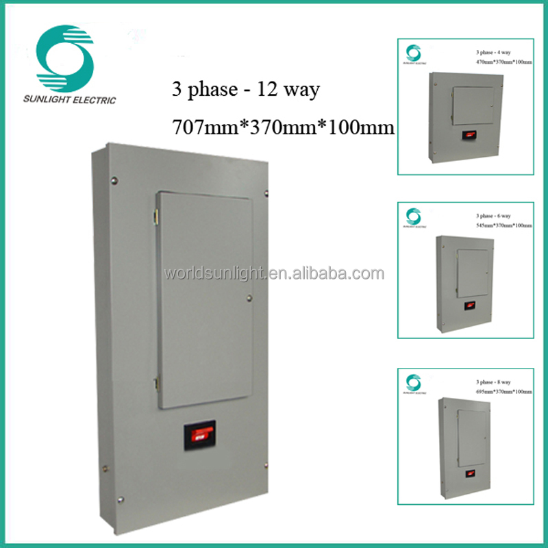 XEM 3 phase 12 way power table distribution box distribution board