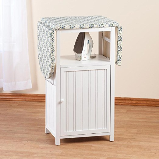 Wooden Folding Ironing Board Cabinet With Cloth Storage ...