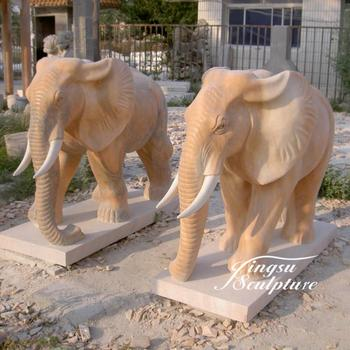 Garden Decoration Hand Carved Stone Carving Antique Elephant Statue