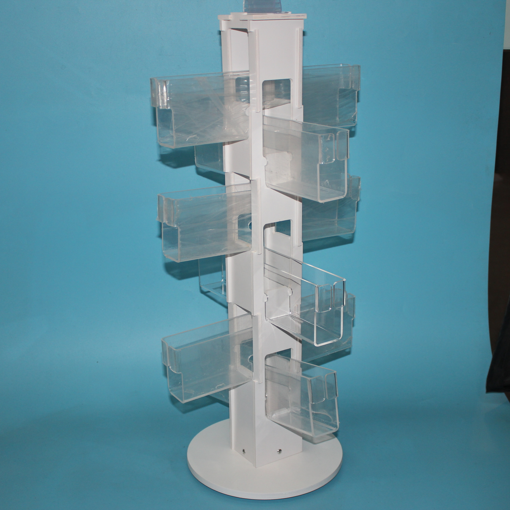 Clear Acrylic Book Spinner Racks