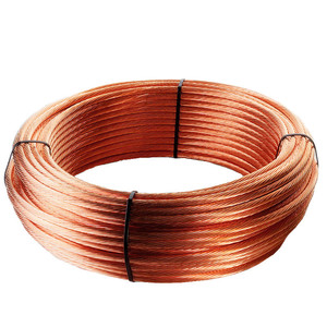 25Mm Earth Grounding Cable Stranded Plain Annealed Copper Conductor