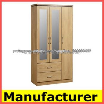 Cheap Wooden Bedroom Wardrobe Closet Kd Furniture Material Factory