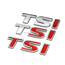 For TSI Badge Emblem Decal Sticker Logo VW for VW Skoda Golf JETTA PASSAT MK4 MK5 MK6 Car styling