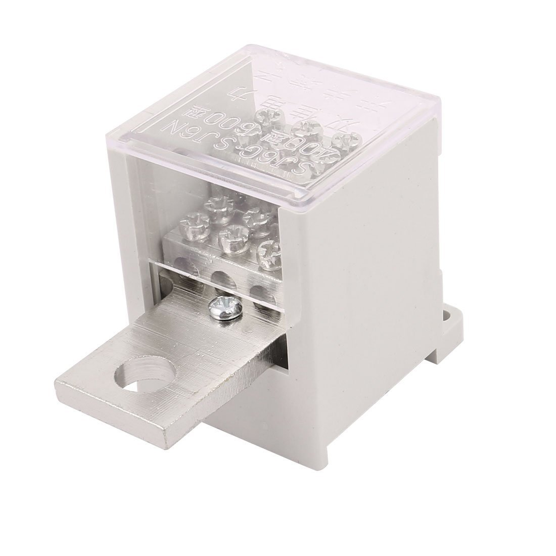 uxcell 400-Type Switch Terminal Wire Barrier Block 1 Inlet 8 Outlet for Miniature Circuit Breakers