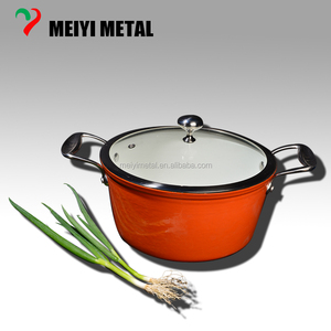 industrial energy aluminum cookware set boiling pot with glass pot lid