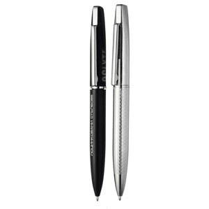 Best sellers stationery high quality soft touch customized mirror logo metal ball pen