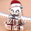 Hotsell Original European Sterling 925 Silver charm clips for bracelet necklace enamel Christmas Kitten clip from manufacturer