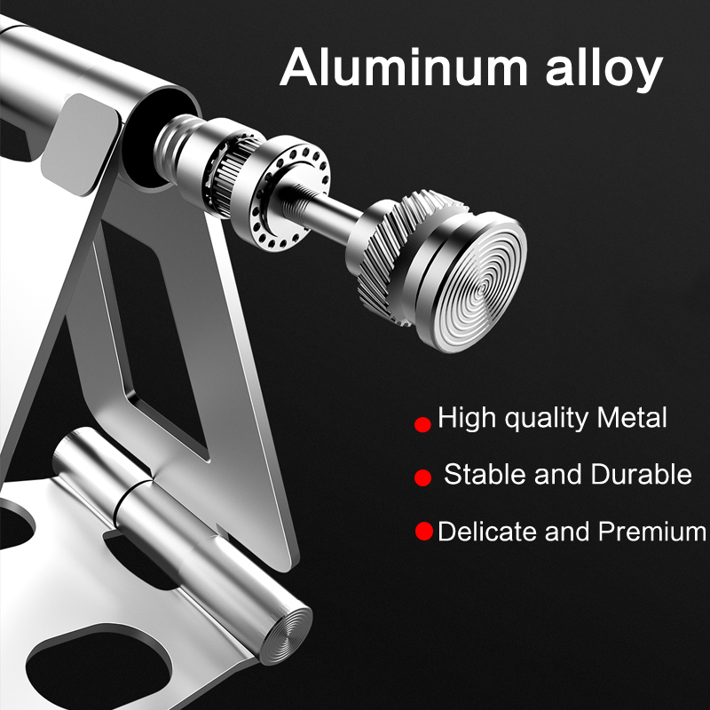 Licheers free shipping Aluminum foldable desk phone holder portable mobile phone holder stand dual foldable cell phone holder