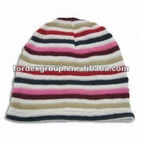Knitted Hat, Measures 25 X 21cm, Weighs 27g, Made of 100% Acrylic, Suitable for Women