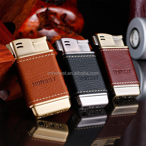 pipe cigarette lighter cheap refill leather lighter