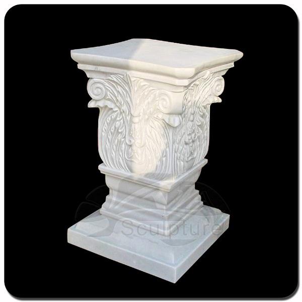 Charming Faux Stone Garden Pedestal VP N033S