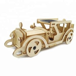 3D Able to Run Truck Puzzle Wooden Solar Powered Toy
