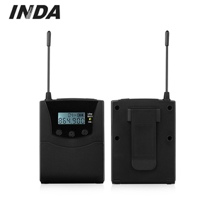 With LCD screen Professional RF Wireless Bodypack Audio Tour Guide System for travel agency