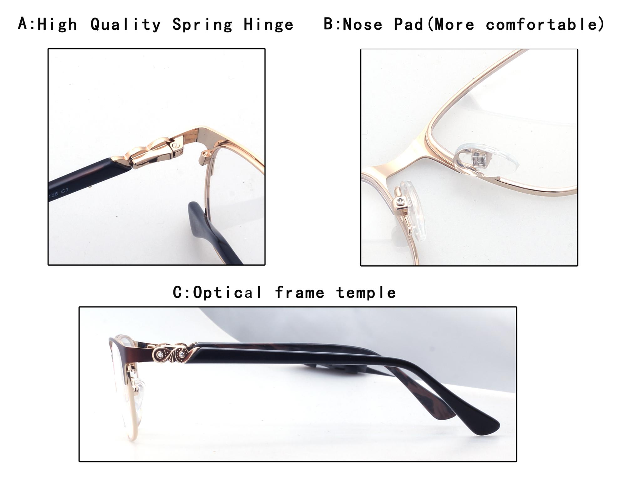 2018 hot sale trendy products in stock  eyewear optical stainless metal eyeglasses frames