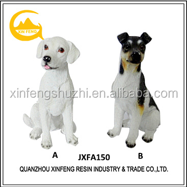 Resin Puppy Dog Statue Animal Sculpture for Home Decoration