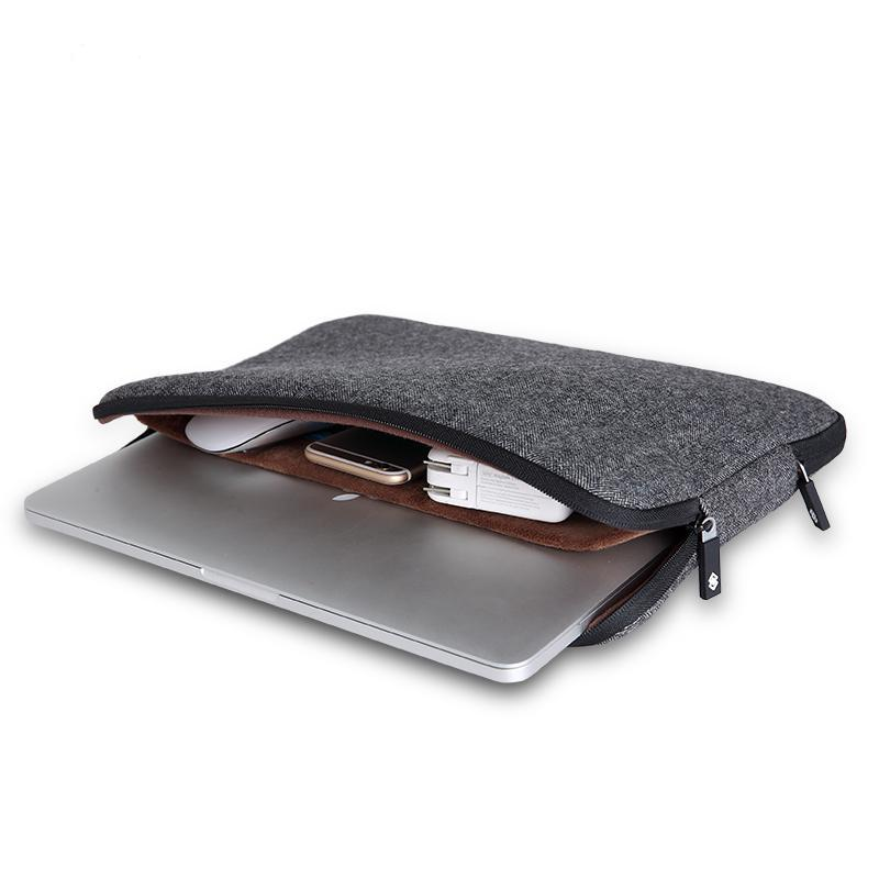 a5bf2597e104 Top Selling Men Felt Waterproof Laptop Bag 13.3+Free Gift Keyboard Cover  for Macbook Air Pro 13 Laptop Sleeve Bag 13.3