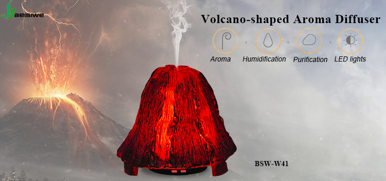 Wholesale price ultrasonic electric aromatherapy aroma diffuser lamp volcano humidifier