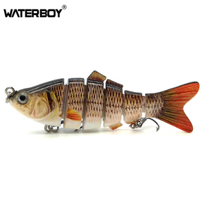 High quality 3D Eyes Wobbler Fish Crankbait Swimbait Isca Artificial Bait 10cm 20g Multi Jointed Fishing Lure