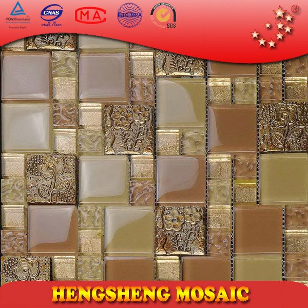 Foshan 8 mm Colorful Square 3D Resin Flower Pattern Decoration Wall Tile For Kitchen Tiles floor art sticker