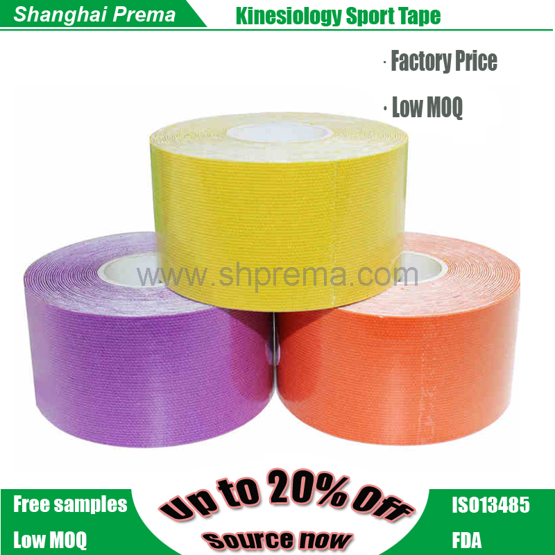 2017 best selling products kinesiology tape Quality hot sell oem logo kinesiology tape mucle tape
