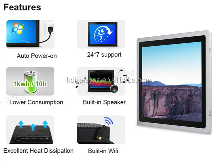 2GB/4GB/8GB RAM Windowse smart all in one 15 inch touch screen tablet pc