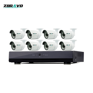 H.265 4 Megapixel 8CH Network Full HD Mini POE Security Camera 8CH POE NVR Kits